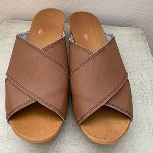 Leather slides-size 41 (fit like a 10)
